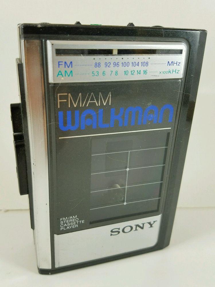 Vintage Sony Walkman WM-F41 AM FM Radio Personal Cassette Tape Player For Parts #Sony