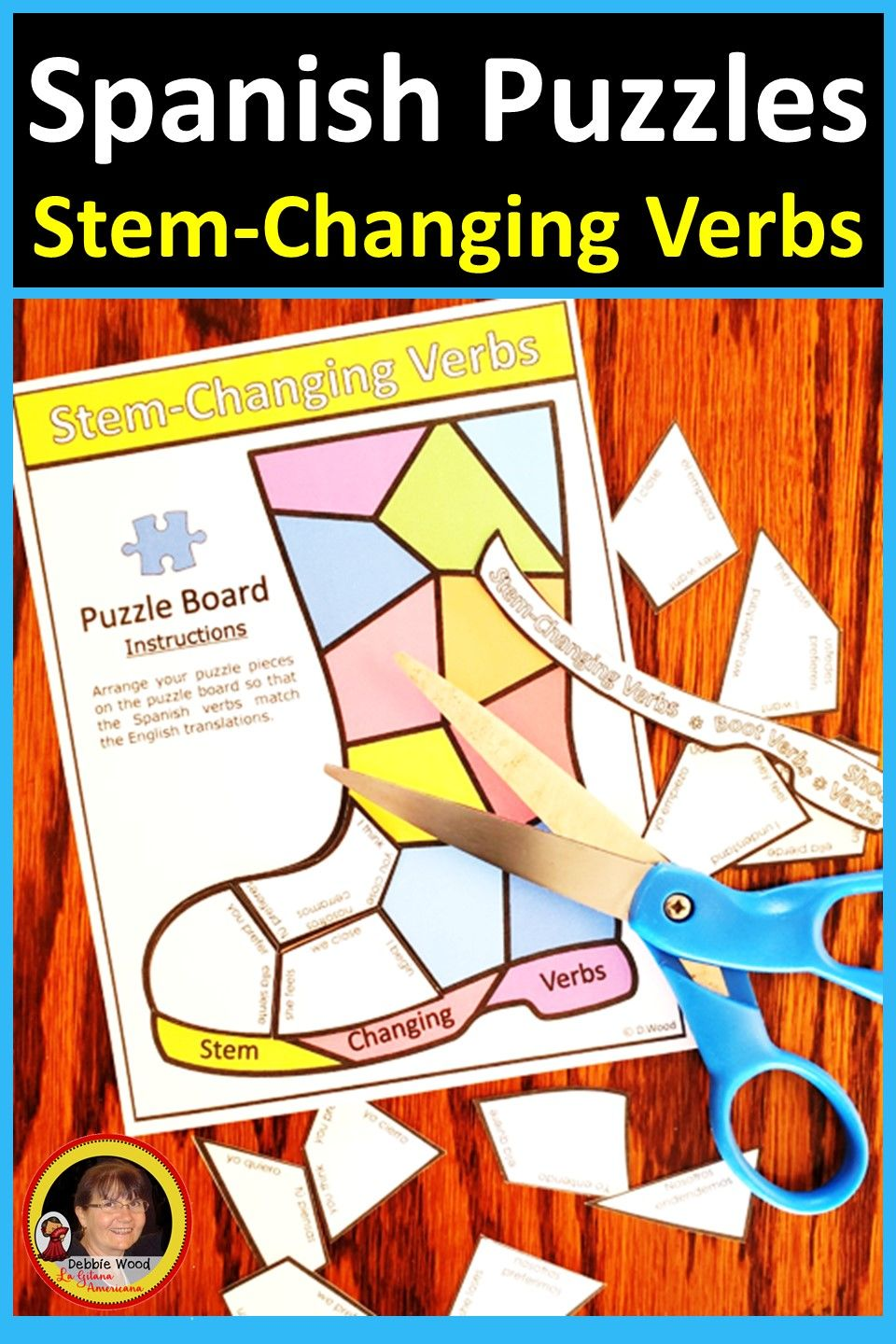 Spanish Stem Changing Verb Puzzles Verbs Activities Verbs Lessons Spanish [ 1440 x 960 Pixel ]