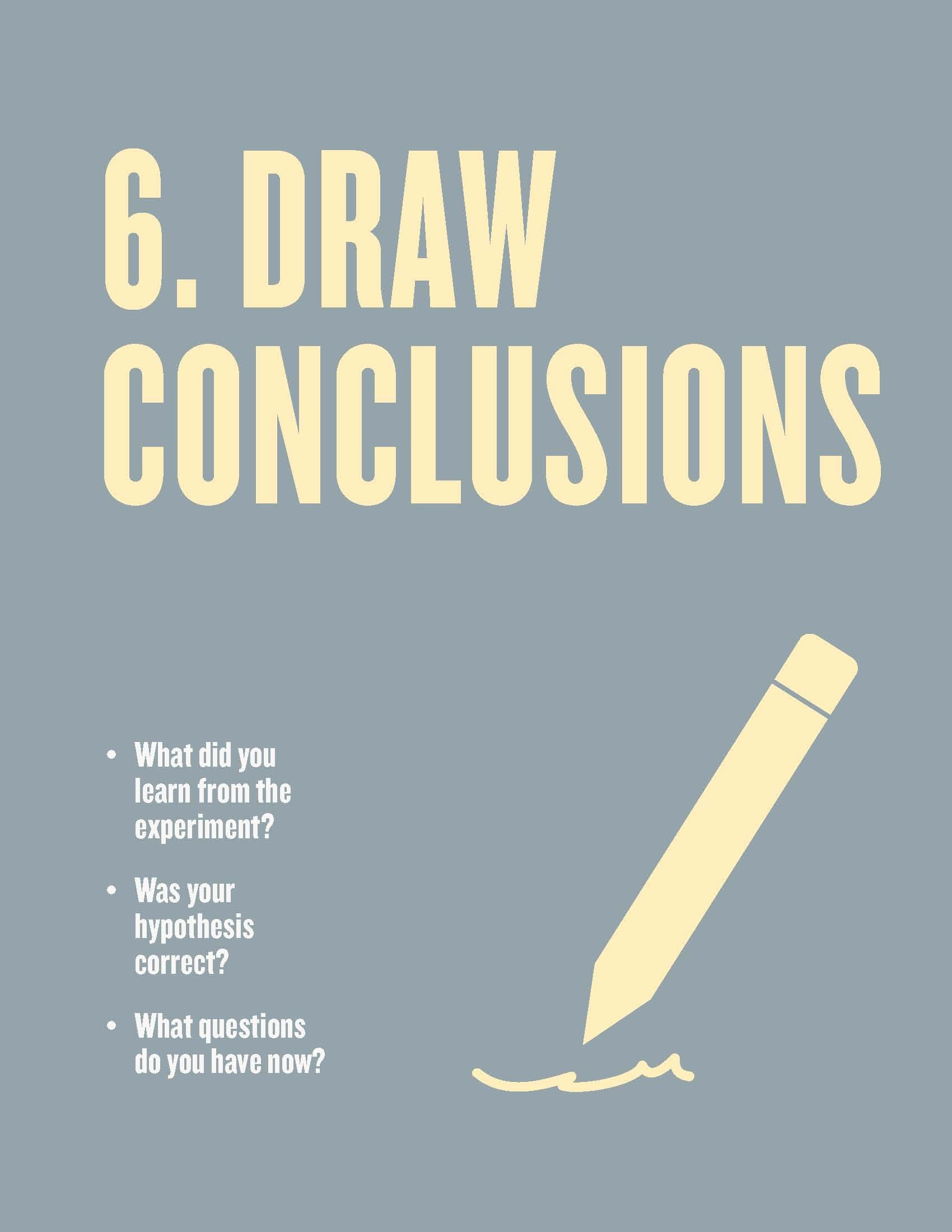 Free Scientific Method Posters For The Classroom Step 6
