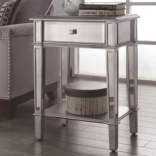 Charming Coaster Accent Tables Hand Painted Accent Table With Mirrored Panels    Coaster Fine Furniture