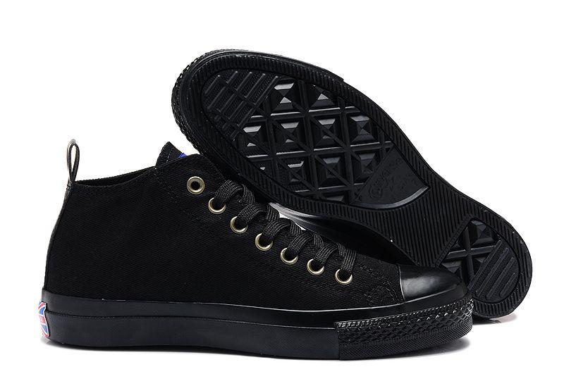 30821c3018ae21  converse Converse All Black High Tops Chuck Taylor All Star Mens Shoes