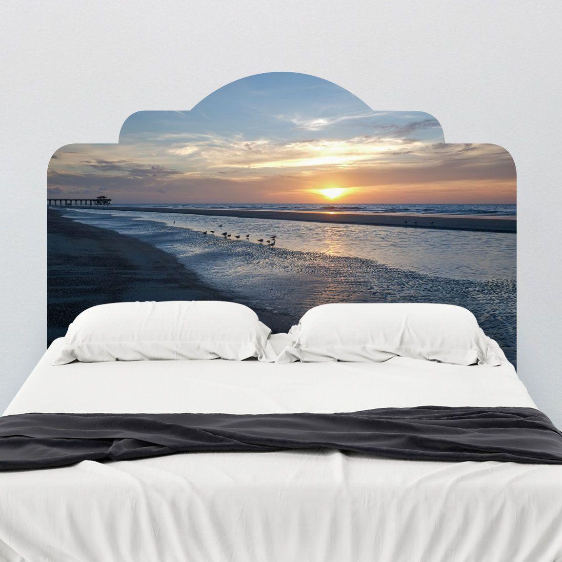 Paul Moore's Sunset Seagull Beach Adhesive Headboard wall decal