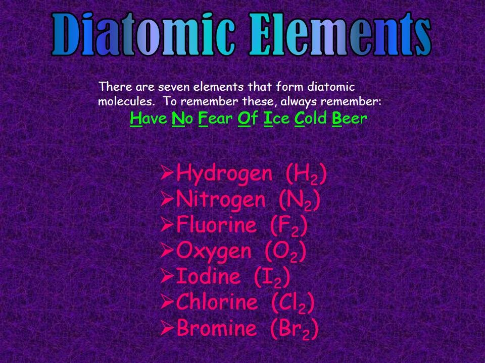 Heres A Great Mnemonic Device For Memorizing The Seven Diatomic Elements