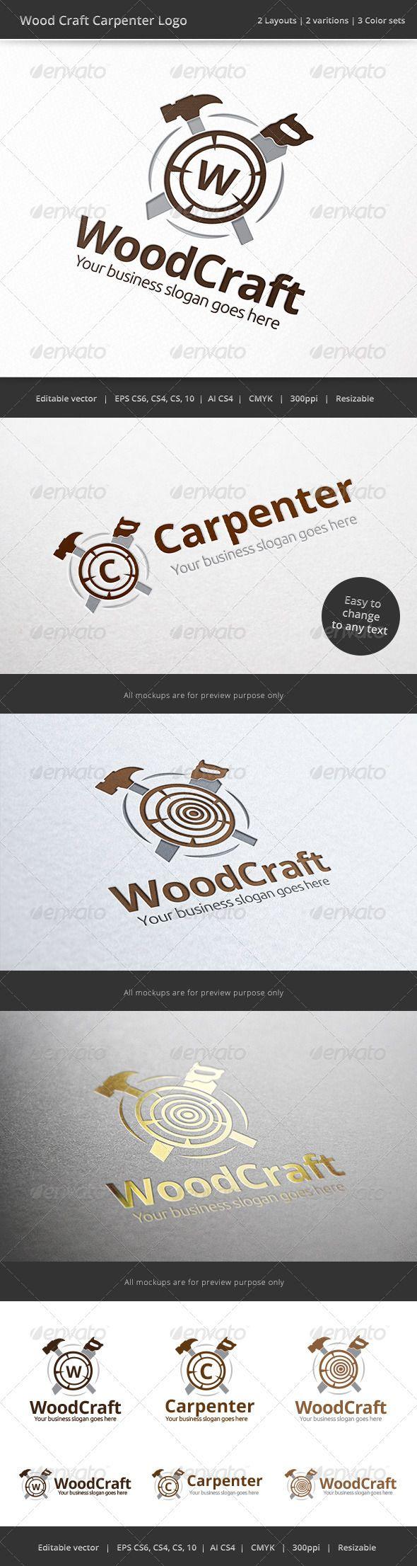 Carpenter Wood Craft Logo Logos Craft Logo Logos Logo Design