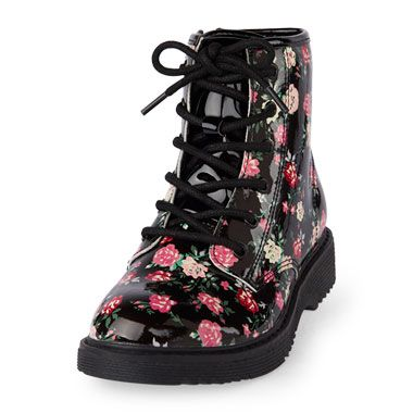 Girls Floral Print Roxi Boot   Boots