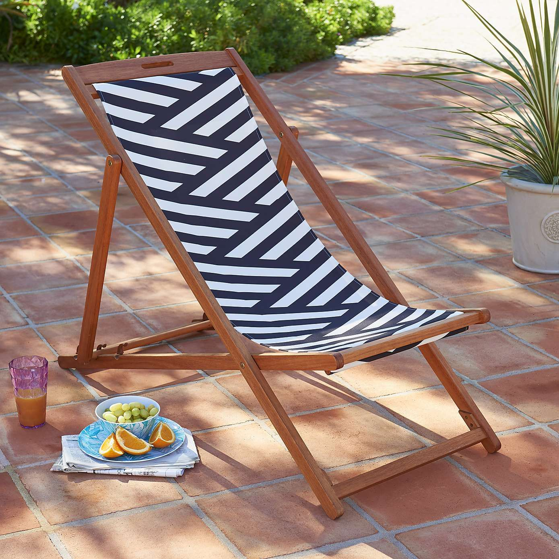 Best Monochrome Stripe Deck Chair Deck Chairs Chair Monochrome 400 x 300