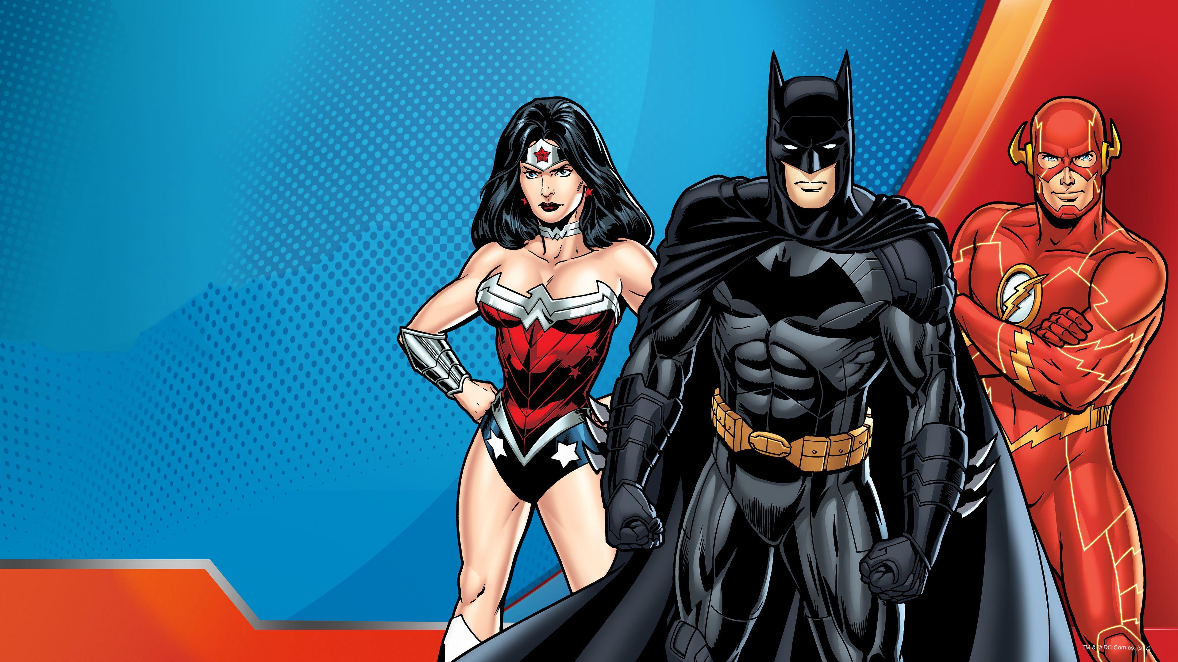 Batman Flash Wonder Woman Dc Superheroes Comic Art 4k Wonder Woman Wallpapers Superheroes Wallpapers Hd Wallpapers F Wonder Woman Superhero Batman Wallpaper