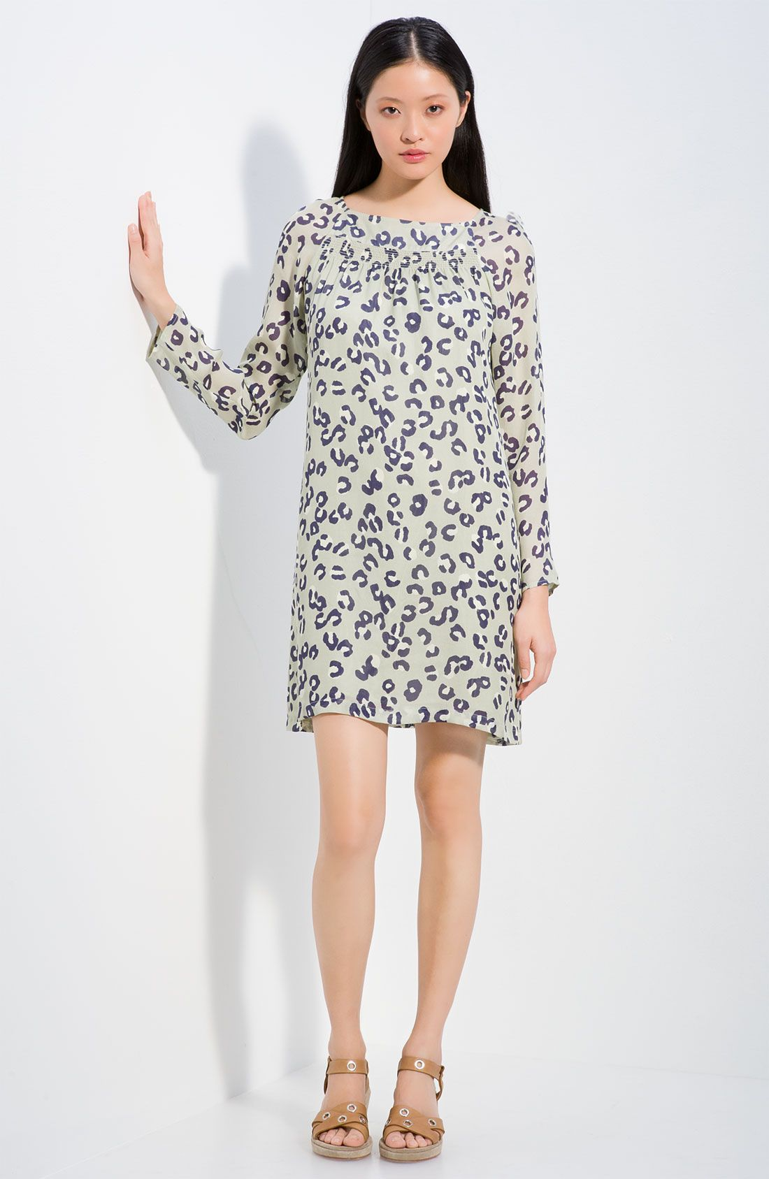 81908e39f0 A.p.c. Leopard-print Woven Silk Dress in Animal (leopard)