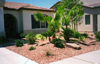 Simple Front Desert Landscape Designs Desert Landscaping Desert