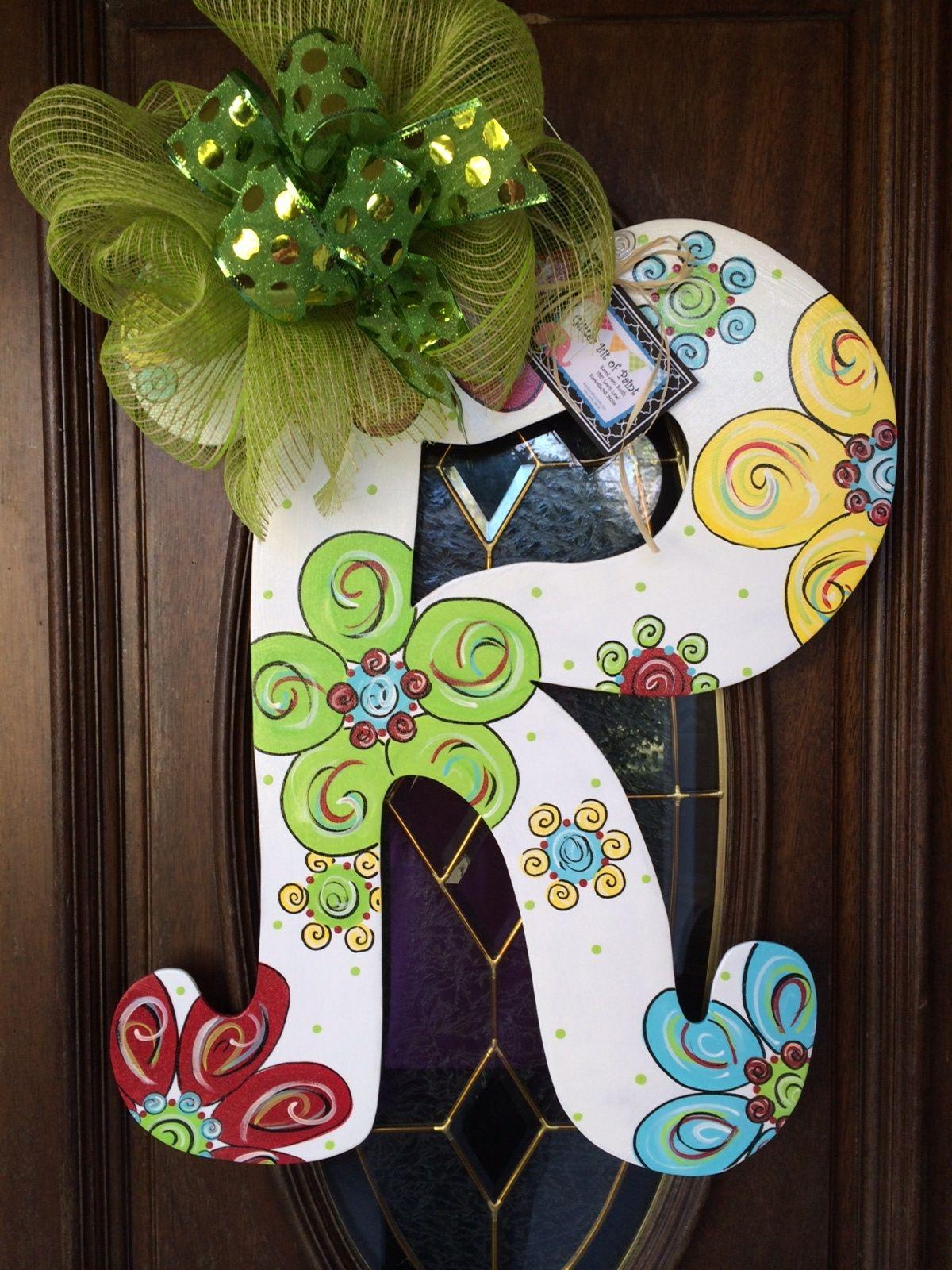 Painted Wooden Letters Door Hangers