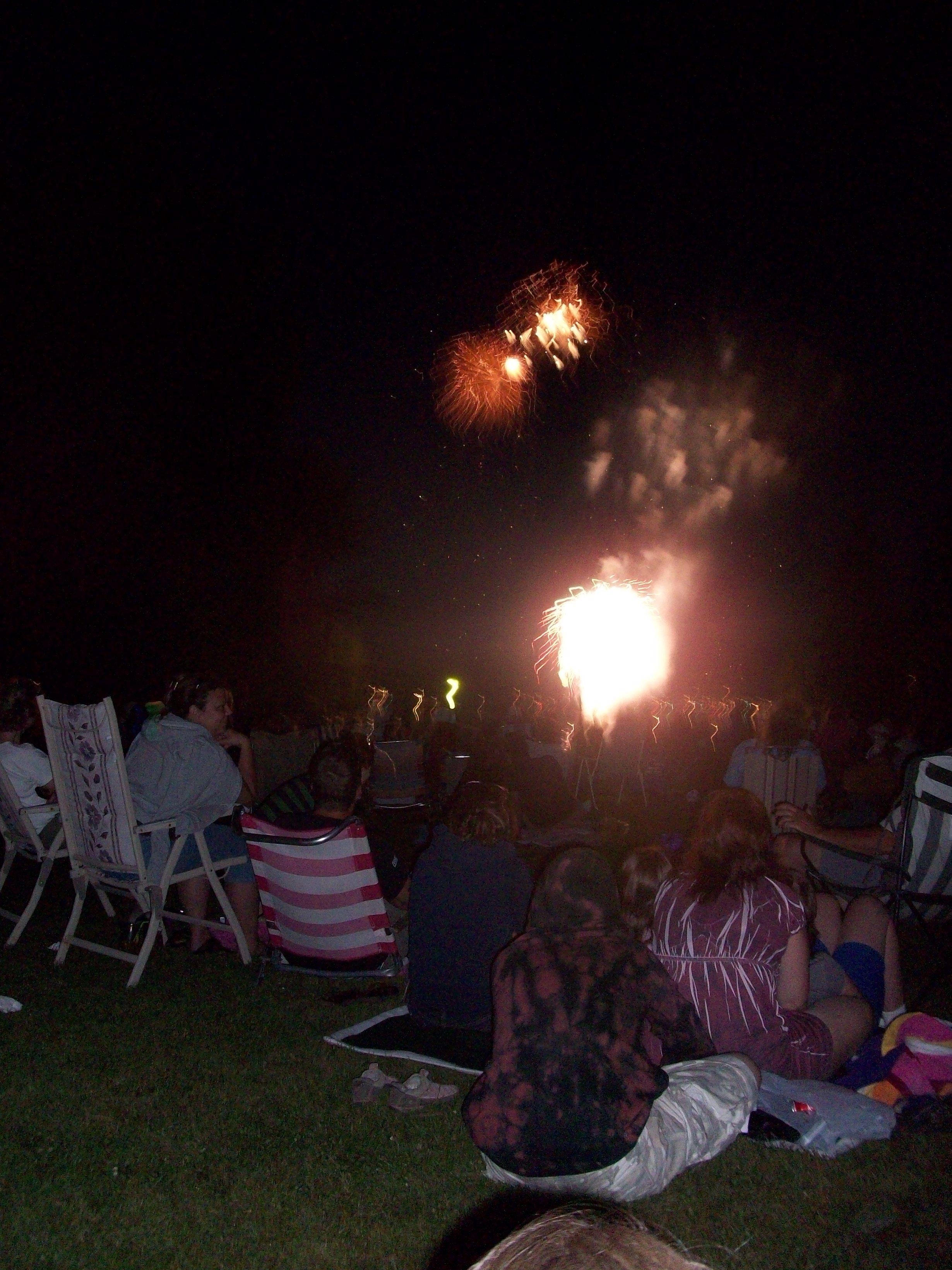 Fireworks of Lake Sunapee Harbor, Sunapee New Hampshire
