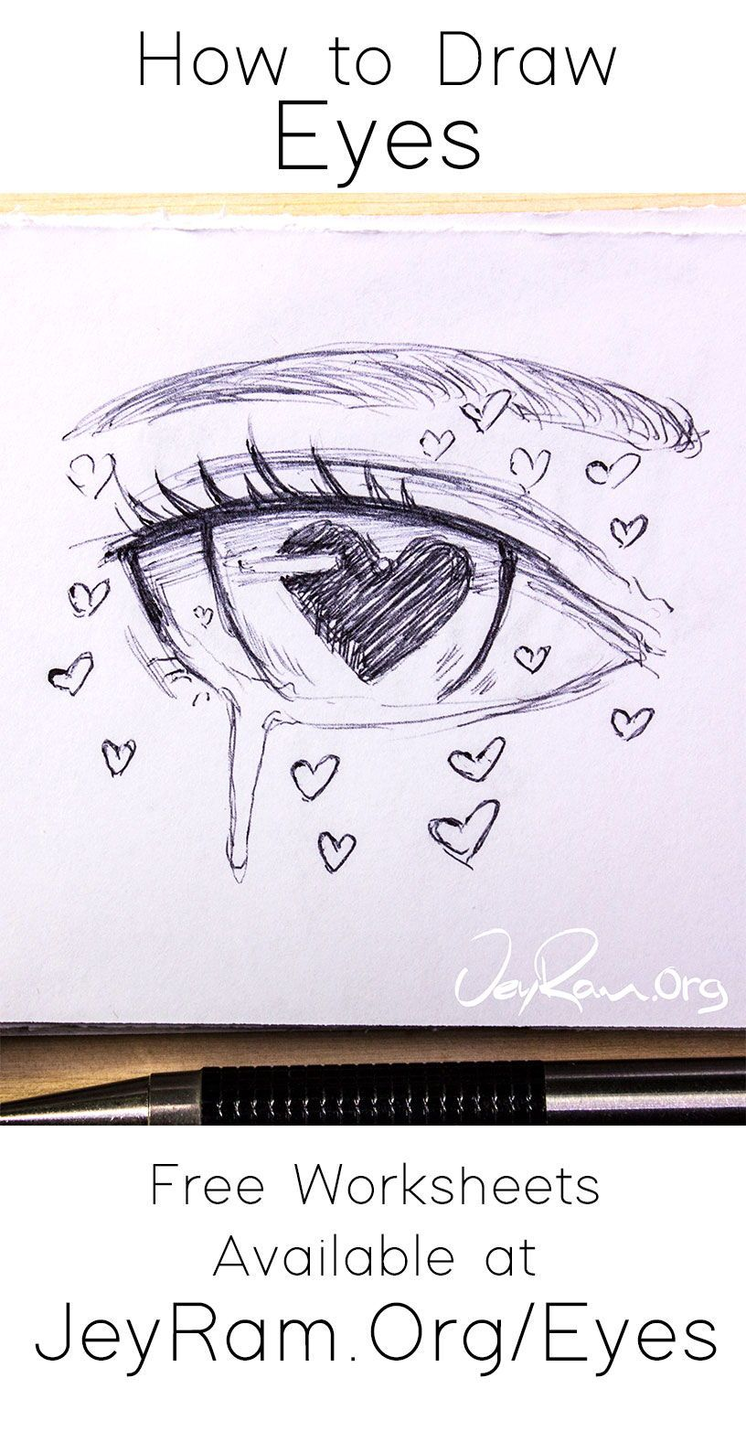 Learn how to draw beautiful female anime eyes using this