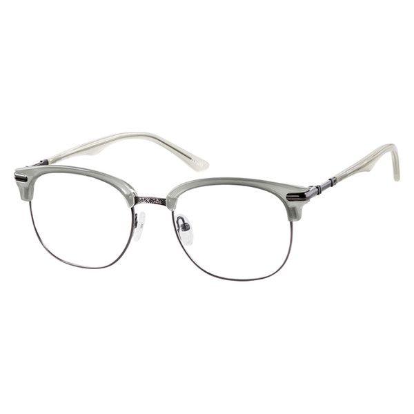 70426adeef Zenni Browline Prescription Eyeglasses Gray Mixed Materials 7811012 ...