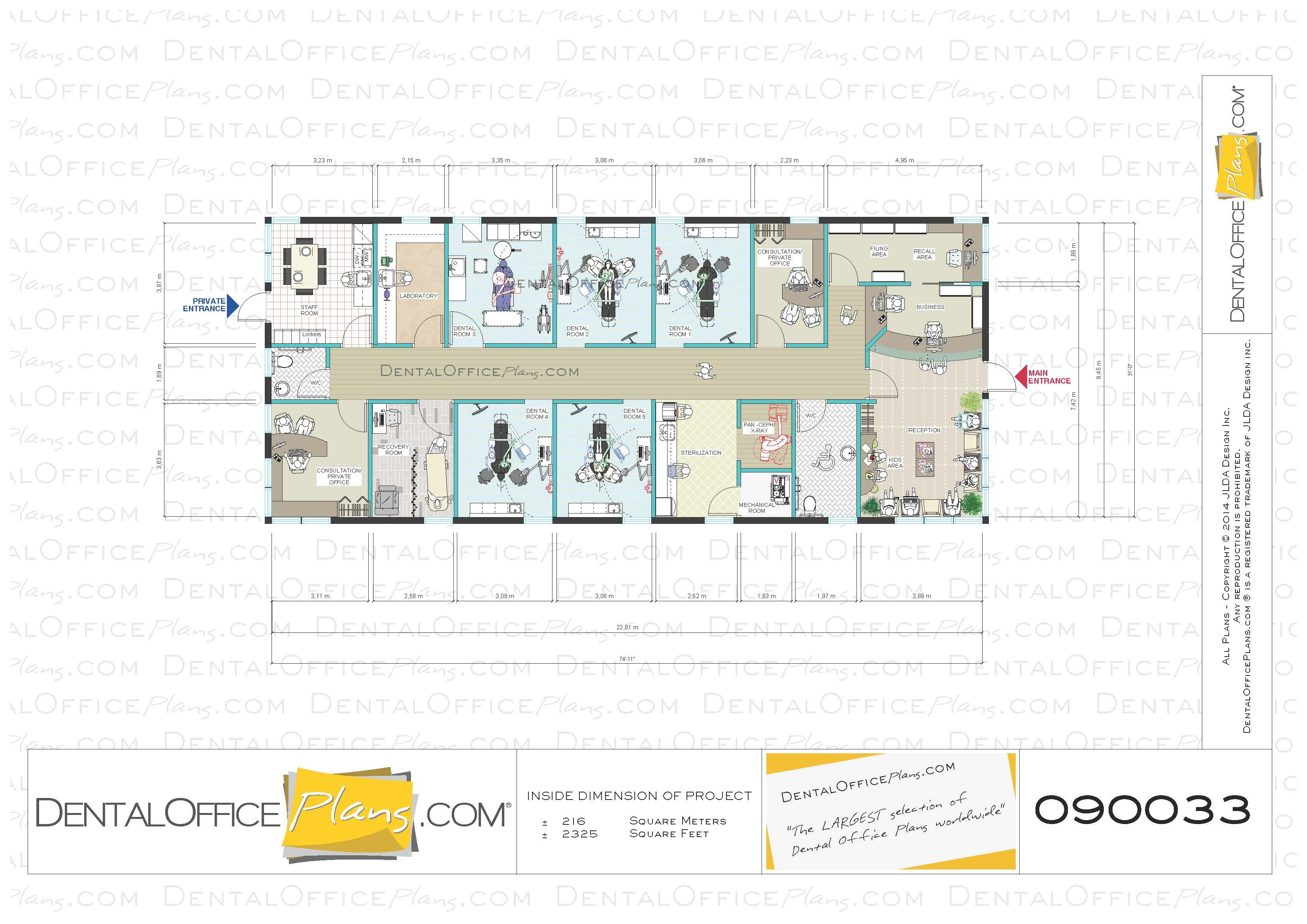 2325 Sq Ft I Like The Reception Area Plan 090033 Office Plans