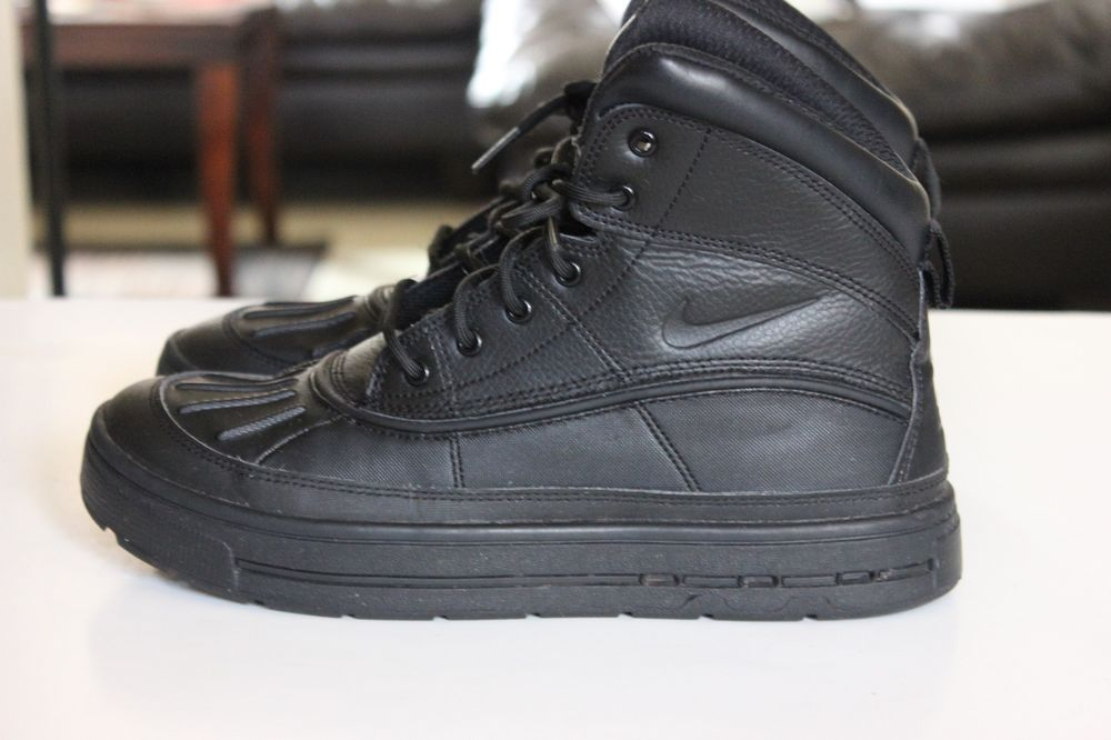 a404fbbae06fbd Nike Woodside 2 High GS Triple Black 524872-00 Youth ACG Boots Sz 7Y ...
