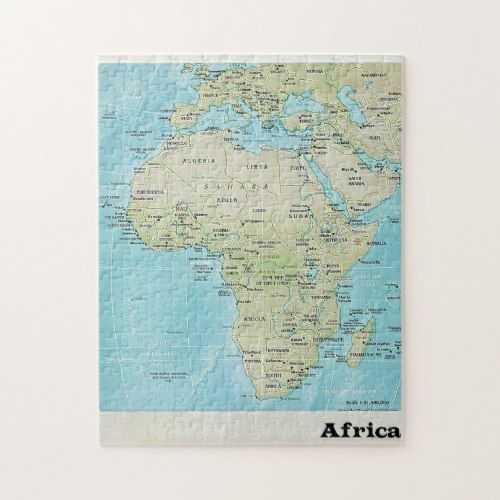 Africa Geography Map: A Jigsaw Puzzle | Zazzle.com (With ...