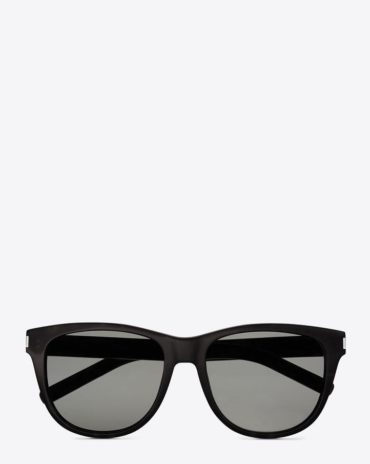 d91aebbf7f4 Saint Laurent Classic 3 Sunglasses In Black Acetate With Brown Lenses |  ysl.com