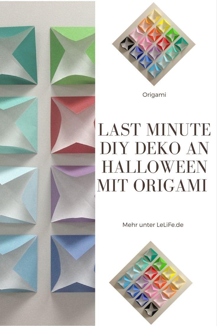 Superior Last Minute DIY Deko An Halloween Mit Origami ?