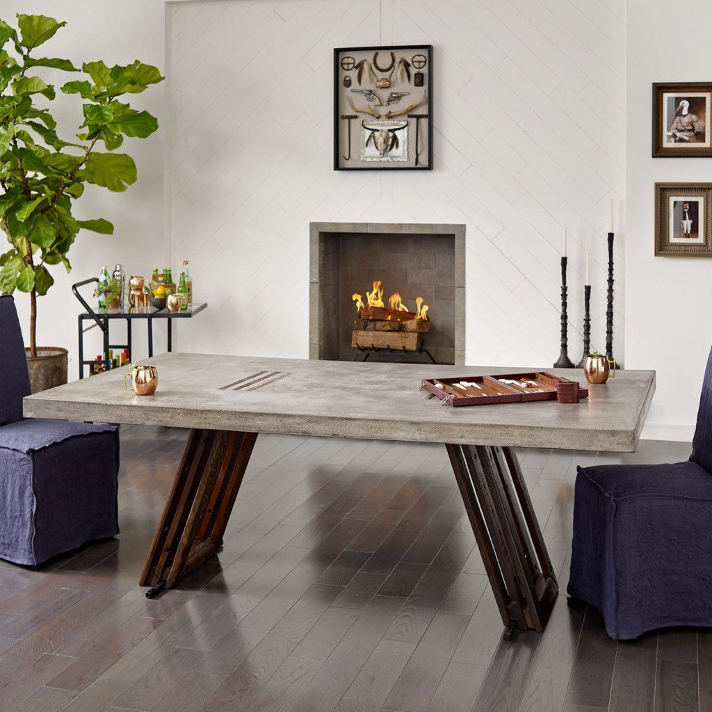 The Jimi Dining Table merges worlds old and new with a