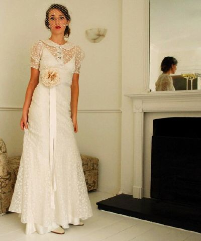 Second Time Around Vintace Inspired Wedding Dress Hand Vintage Dresses My Italian
