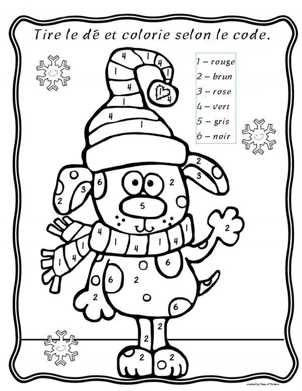 Pingl par manon massicotte sur hiver maternelle cole - Coloriage magique hiver ...