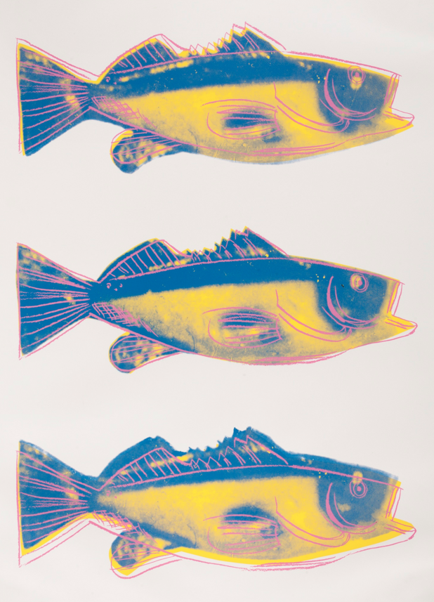 Andy Warhol (1928-1987), 1983, Fish (F. & S. IIIA.41), Screenprint in colors. #Fish #April1st #andywarhol