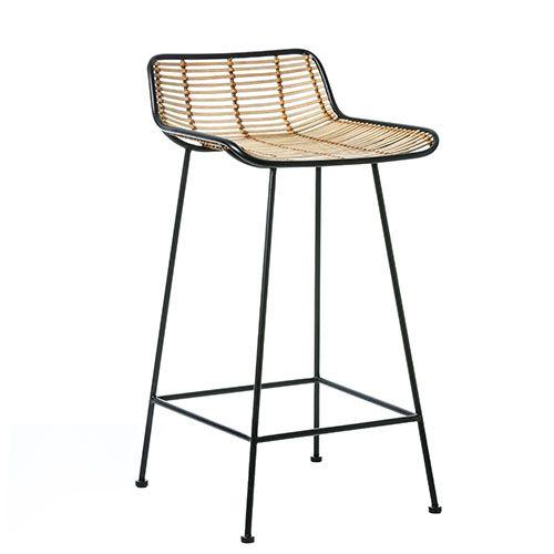 cebu rattan counter stool natural  black  furniture
