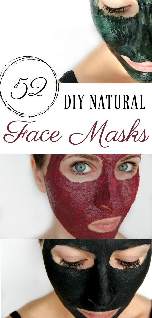 52 DIY Face Mask Recipes #diyskincare