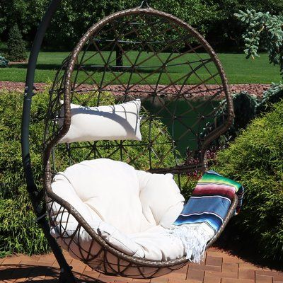 bungalow rose best hanging egg swing chair products egg swing rh pinterest com