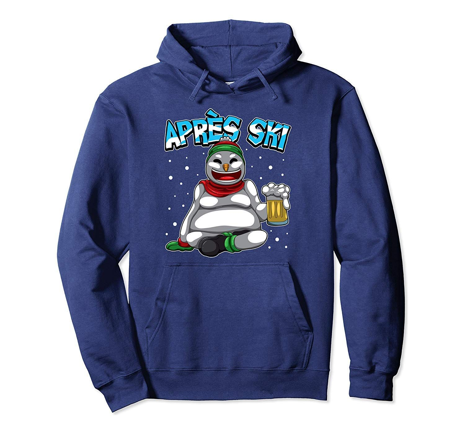 Apres Ski Snowman – Ski Lodge Outfit – Snowboard and Skiing Pullover Hoodie