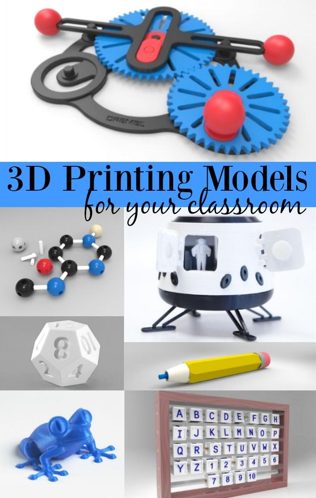 3d Printing Models For Your Classroom Stem Tech In School Our