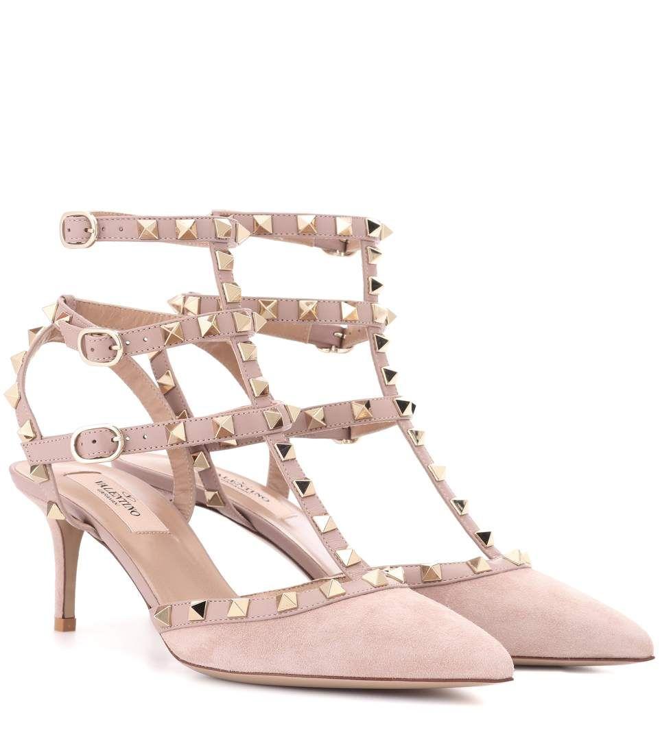 valentino rockstud suede sandal