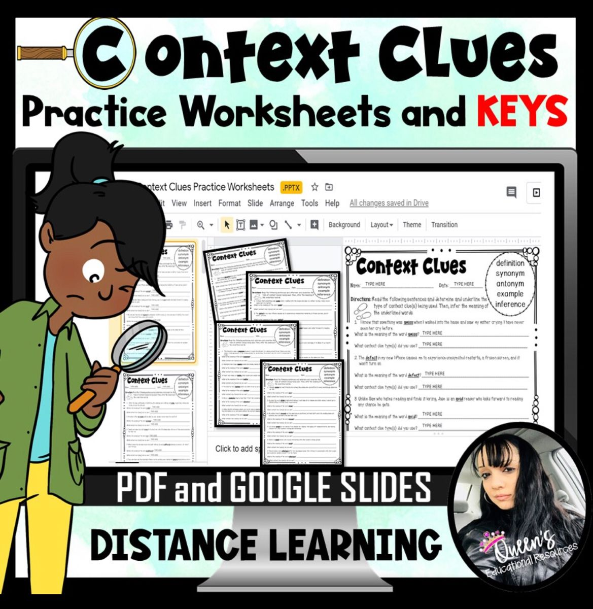 Context Clues Practice Worksheets And Answer Keys Print