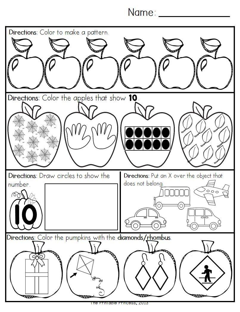 October Morning Work for Kindergarten   Morning work, Math ...