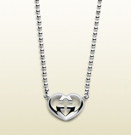 3cf0b50b06c9 Gucci Necklace With Heart-Shaped Interlocking G Motif Pendant ...