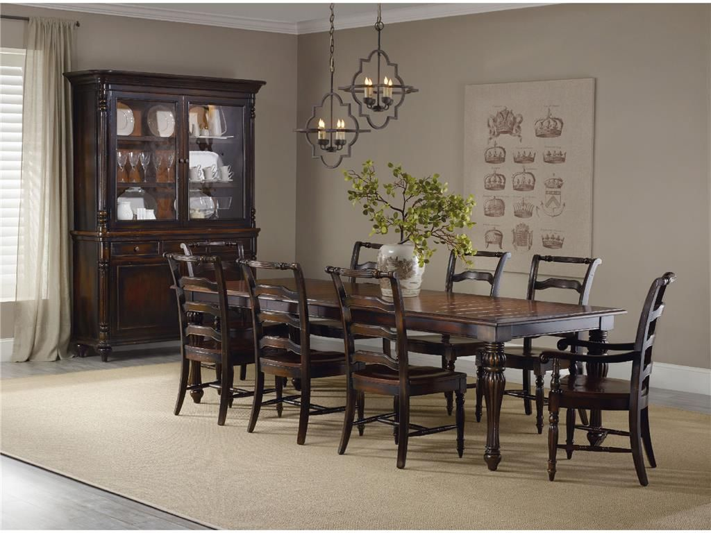 Hooker Furniture Eastridge Dining Room Rectangle Dining Table 5177 75200   Babettes  Furniture   Leesburg