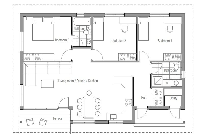 Affordable house plans plan 053h 0012 find unique house for Cheap home designs floor plans