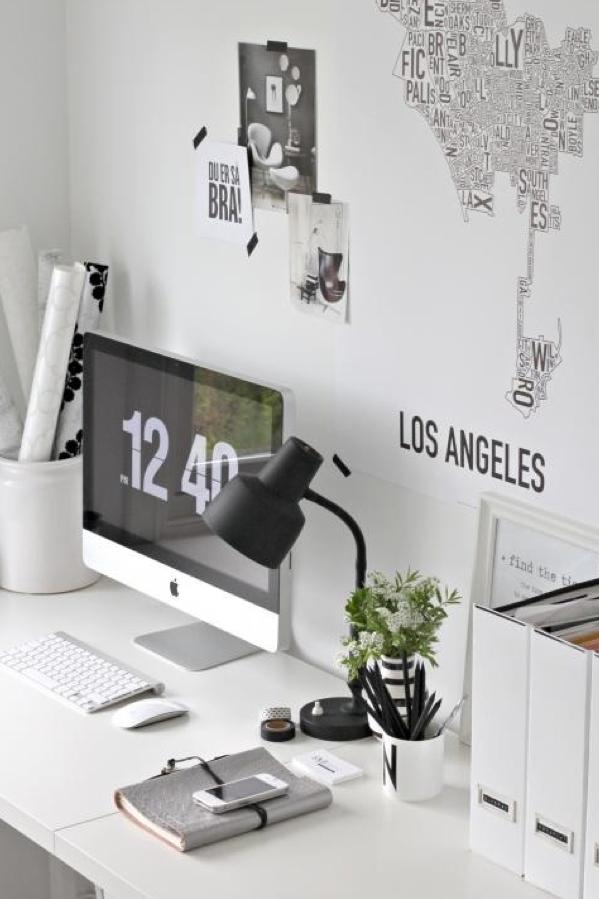 black & white | office.