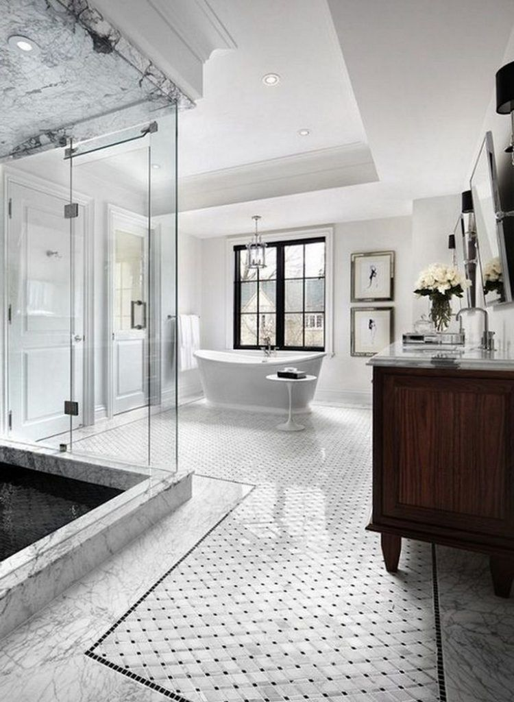 20 Amazing Marble Bathroom Tile Design Ideas Bathroomideas Bathroomremod Transitional Bathroom Design Bathroom Tile Designs