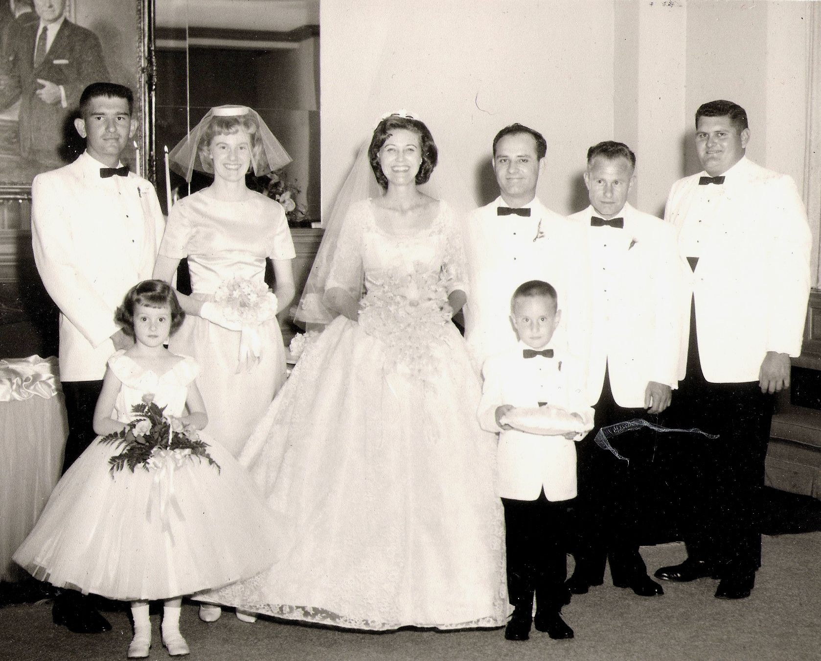 edfb9e93d90 ... flower girl dress. 1950s bride vintage wedding