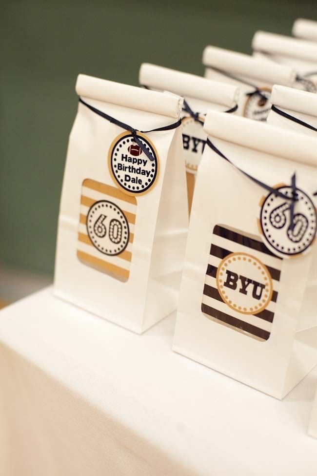 Football Birthday Party Favor Bags