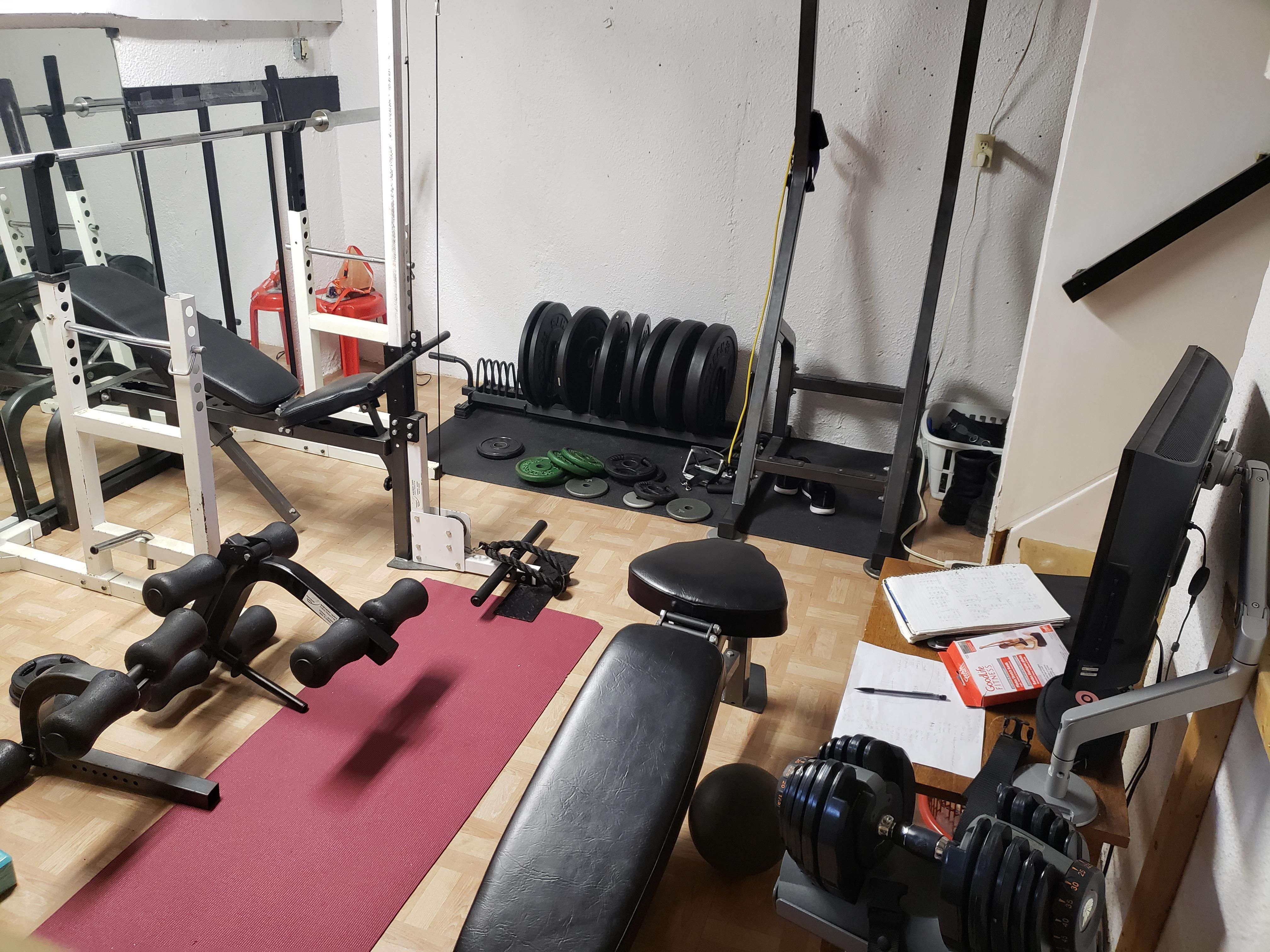 Got All Of This A Few Years Ago For Around 700 Through Fb Marketplace And Kijiji Feeling Very Grateful For It N Fun Workouts At Home Workouts Fitness Blogger