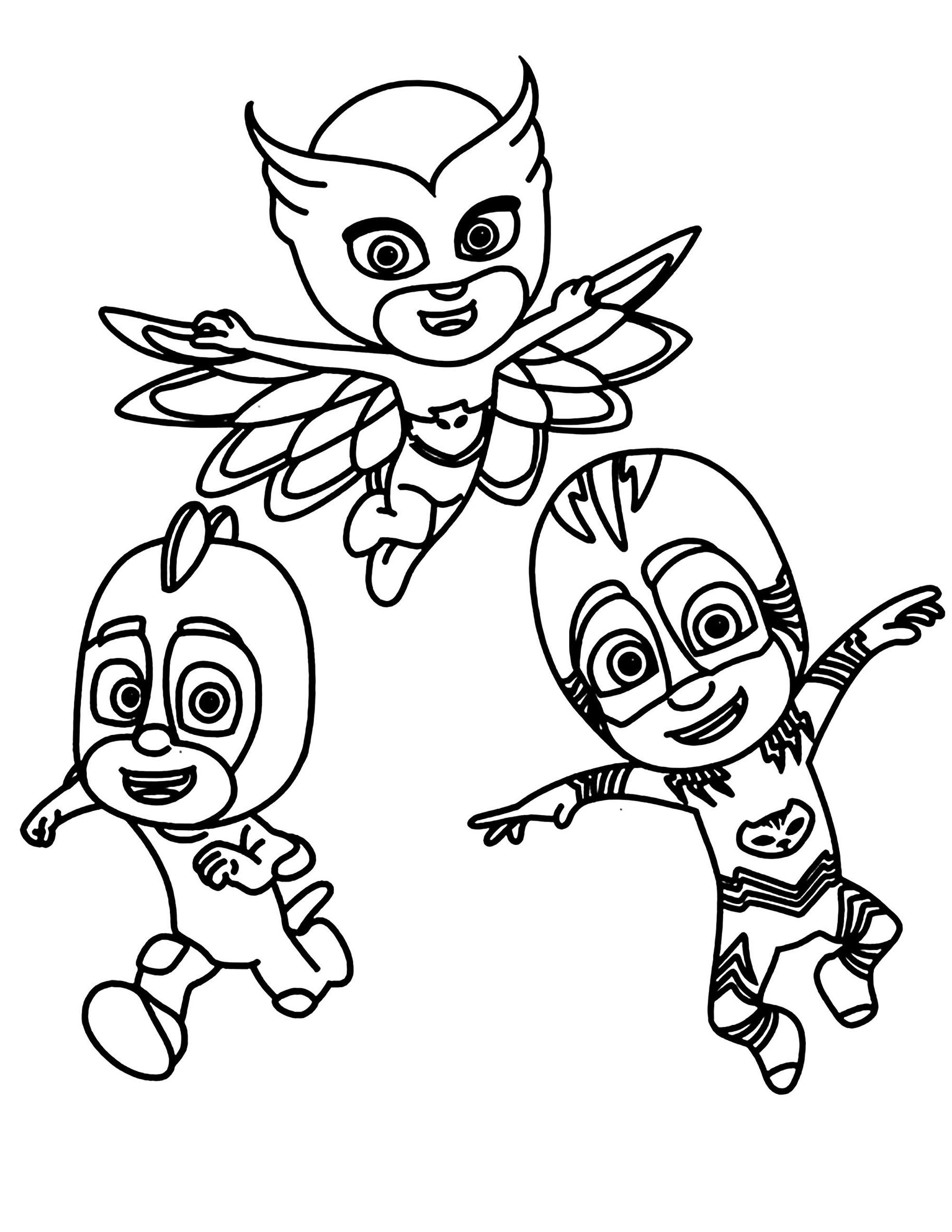 PJ Masks coloring page to print and color Coloring Pages