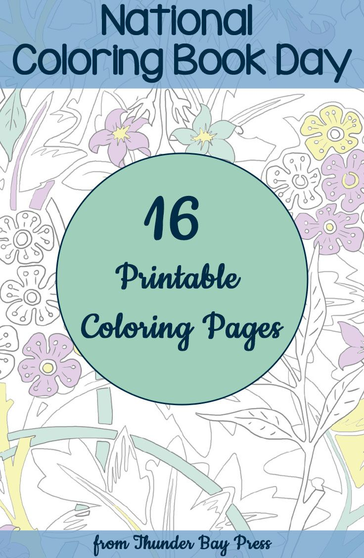 We are celebrating National Coloring Book Day with 16 (!!) printable ...