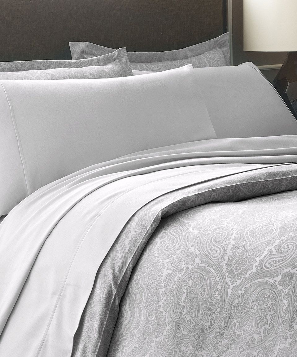 Loving this silver martex thread count duvet cover set on