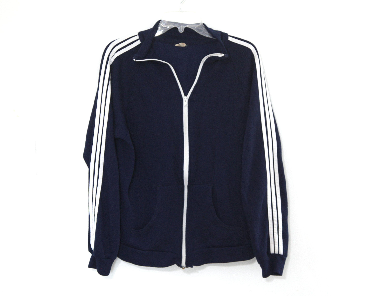 Vintage 80s Sweatshirt Track Jacket Navy Blue 3 Stripes Adidas Etsy Track Jackets Adidas Fashion Jackets [ 2323 x 3000 Pixel ]
