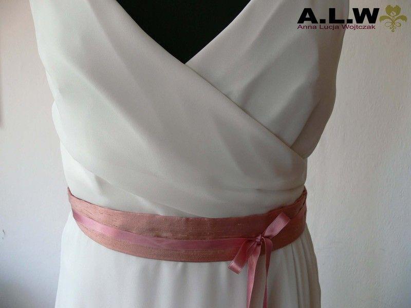 Gürtel in Altrosa - SEIDE ! von alw-design auf DaWanda.com