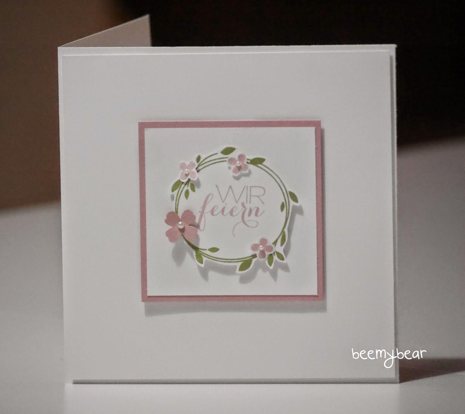 Stampin With Beemybear: Hochzeit, Einladungskarte, Stampinu0027up, Perfekter  Tag, Überraschung