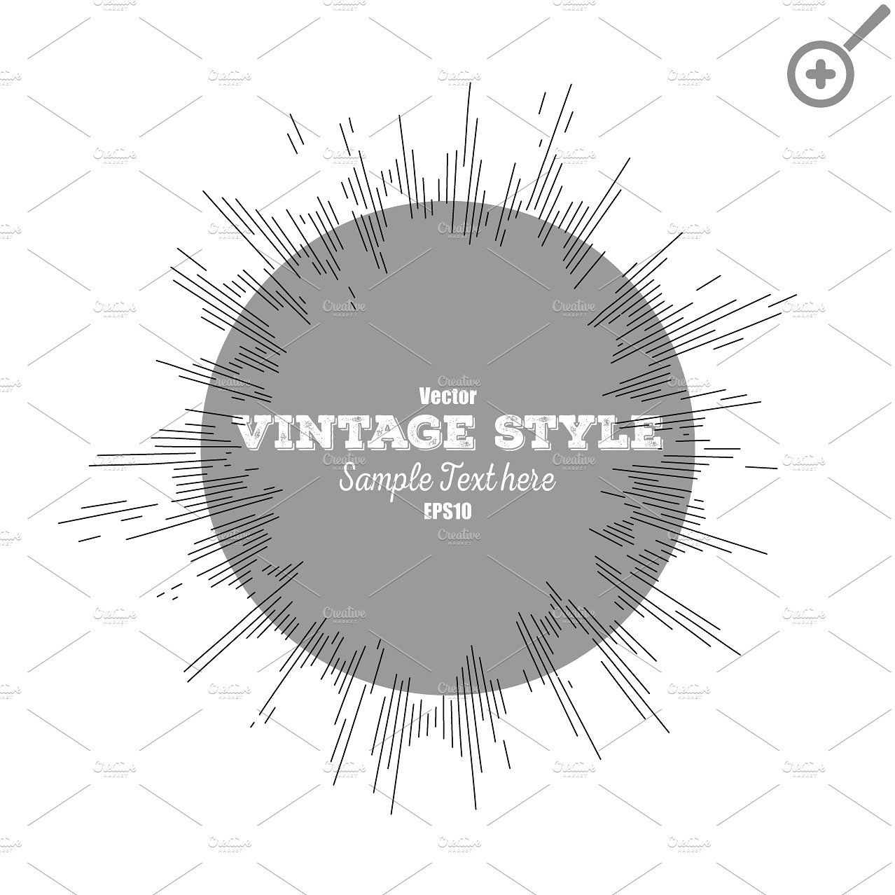Set Of Vintage Style Star Burst Vintage Fashion Star Fashion Vintage