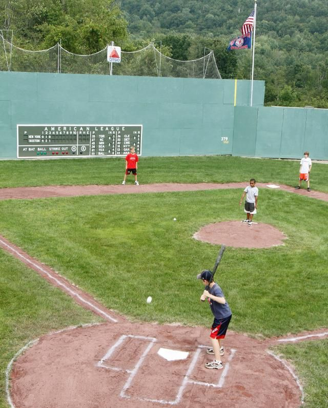 Maybe One Day This Quarter Size Fenway Replica Is As Close As You Can Get To Hitting Wiffleballs Off The Gree Backyard Baseball Backyard Sports Wiffle Ball